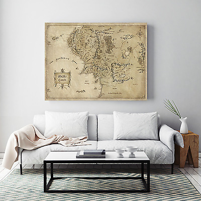 Lord of The Rings Map of Middle Earth JR Tolken M183