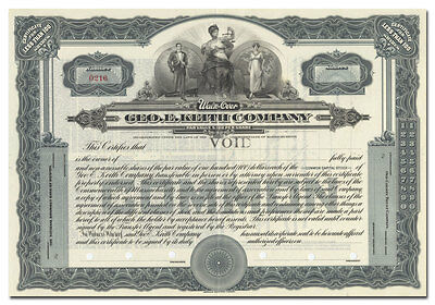 Geo. E. Keith Company Stock Certificate (Walk-Over Shoes)