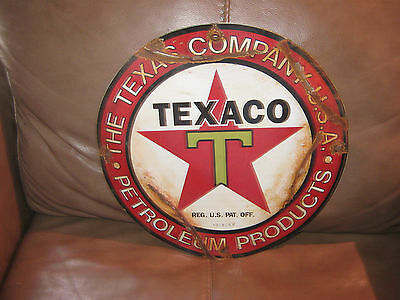 Texaco Enamel or Porceline Gas Pump Sign
