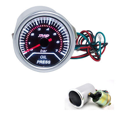 "AU 52mm 2"" THG Racing LED Display Night Light Oil Press Pressure Press Gauge New"
