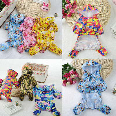 New Pet Raincoat Small Dogs Hoodie Waterproof Warm Puppy Jumpsuit Coat Clothing