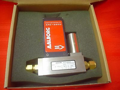 New NOS AALBORG Mass Flow Controller Model AFC-2600 w Operating Manual - 02 Gas