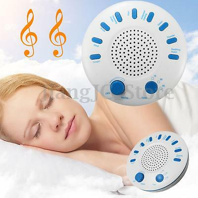 White Relax Machine Deep Sleep Solution Noise Nature Peace Therapy WIth 9 Sounds