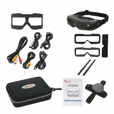 Skyzone SKY02S V+ 3D 5.8G 48CH FPV Video Glasses Tracker Head HDMI Channel DVR
