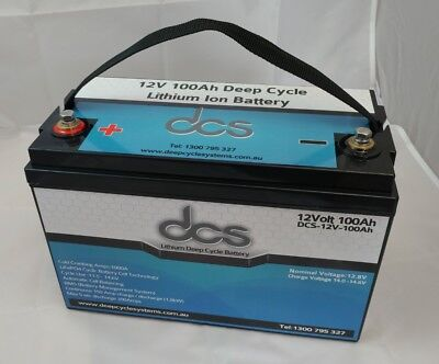 12v 100AH LITHIUM ION LiFePo4 DEEP CYCLE BATTERY CARAVAN SOLAR CAMPING MARINE