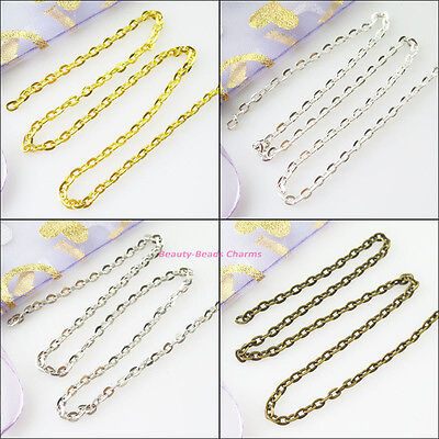 5M Thickness 2.5mm Oval Ring Chain Fit Making Necklace Gold Silver Bronzed Plt
