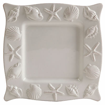 Coastal Home Shell Square Dinner Plate One Size