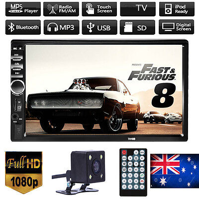 "2 DIN 7"" HD in Dash Car LCD Touch Screen Bluetooth Stereo Radio MP3 MP5 Player"