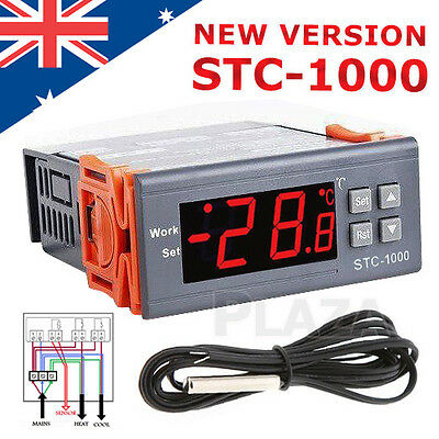 220-240V LCD Digital Temperature Controller Thermostat with Sensor STC-1000