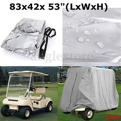 2 Passenger Waterproof Golf Cart Storage Cover Fit For EZ GO Club Car Yamaha NEW