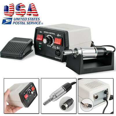 US SHIP Dental Lab Jewelry Polisher Polish Micro Motor Handpiece + Control Unit