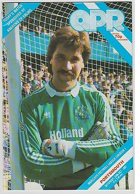 Queens Park Rangers V Portsmouth 1987 Programme Rare Hand Signed 10 X Signatures