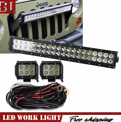 Front Grill Light Dual Row 20 Led Light Bar For 2007 2017