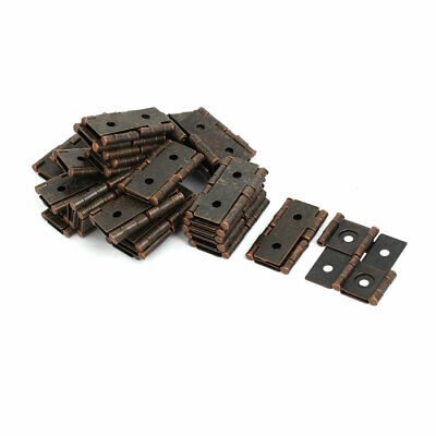 47mmx45mmx5mm Antique Style Double Acting Folding Screen Hinge Copper Tone 30pcs