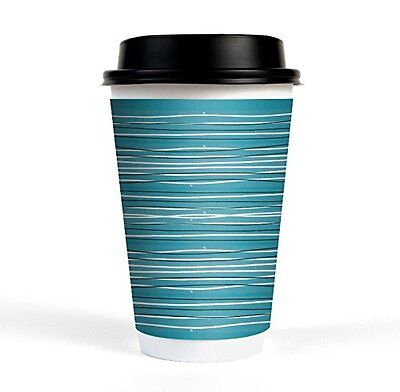 50 16oz Insulated Drinking Cups With Plastic Lids For Coffee Tea Hot Beverages
