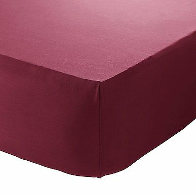 Catherine Lansfield So Soft Non Iron Combed Polycotton Red Fitted Sheet 3 Sizes