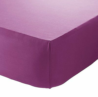 Catherine Lansfield So Soft Non Iron Combed Polycotton Pink Fitted Sheet 3 Sizes