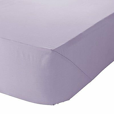 Catherine Lansfield Soft Non Iron Combed Polycotton Lilac Fitted Sheet 3 Sizes