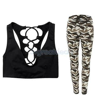 Women Yoga Suits Sport Sets Bra And Pants Leggings Tights for Dancing Gym M