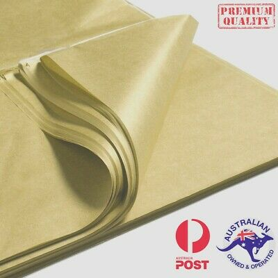Metallic Tissue Paper GOLD/ SILVER 510x760mm 21gsm Gift Wrap Premium Qlty