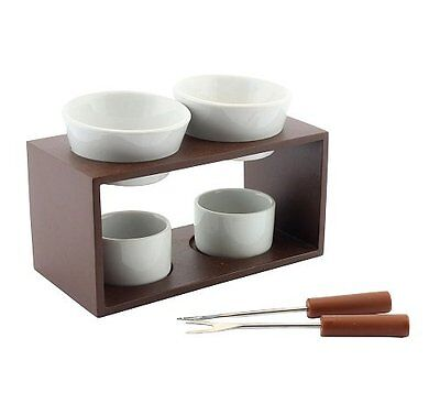 Fondue Melting Station Set ~ Chocolate / Cheese Melting & Dipping & Forks 27562