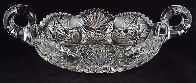 ABP American Brilliant Period Cut Glass Large Handled  Multiple Motifs