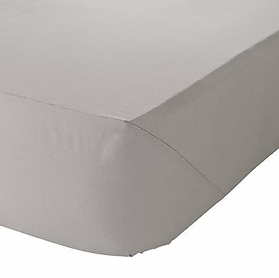 Catherine Lansfield 100% Pure Cotton Super Soft Natural Fitted Sheet All Sizes