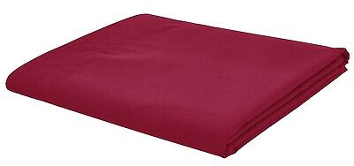 Catherine Lansfield Non Iron Percale Combed Polycotton Red Flat Sheet 3 Sizes
