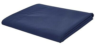 Catherine Lansfield Non Iron Percale Combed Polycotton Navy Flat Sheet 3 Sizes
