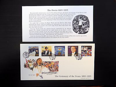 GB 1995 Gairsey Centenary of the Proms Set of 5 on FDC NB405