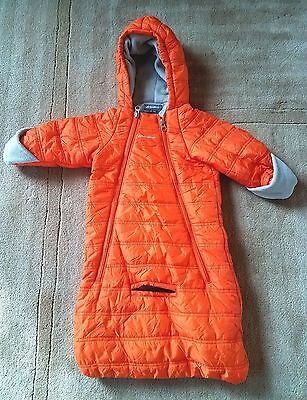 Eddie Bauer Baby Infant Boys Girls snow suit bunting coverall 6-9 Months Orange