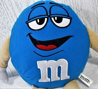 """2014 M&M Blue Character Candy Toy Factory Mars Plush Licensed RARE 14"""" T EUC"""