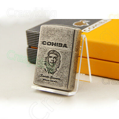 COHIBA Retro Style Guevara 2 TORCH JET FLAME CIGAR CIGARETTE Pipe LIGHTER Gift