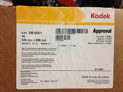 31003371 Kodak Approval Precoat Pc02  0546 X 0698 Box Of 50