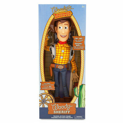 Disney Parks Pixar Toy Story Talking Woody Figure New with Box
