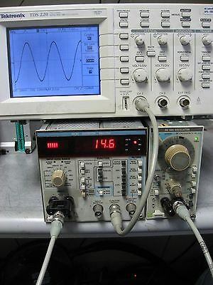 TEKTRONIX SG 505 Oscillator WORKS GREAT! Option 2 Floating Out & Intermodulation