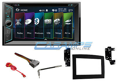 "6.2"" Soundstream Double 2 Din Bluetooth Stereo Radio W Install Kit For Ram Truck"