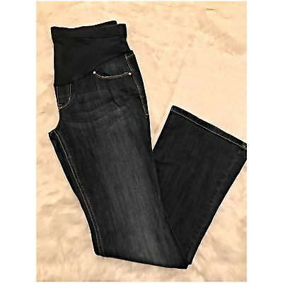 Old Navy Full Panel Waist Maternity Jeans Boot Cut Size 8 Stretch