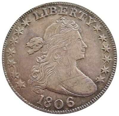 1806 Silver United States Draped Bust Flowing Hair Half Dollar Xf Condition*