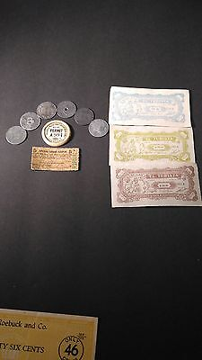 Missiouri Tax Tokens Coins Sugar Coupon Depression Wwii, Lot Shipyard & Marine