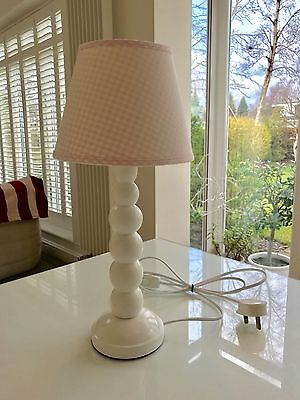 The Little White Company Bubble Table Lamp Pink Gingham