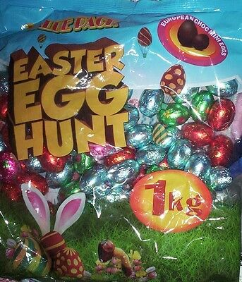 bulk one kilo EASTER EGGS mini solid chocolate egg hunt party favours kids sweet