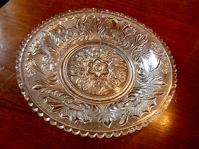 BOSTON & SANDWICH GLASS CO.  ~ ANTIQUE LACY PERIOD BOWL ~ Shield & Acanthus