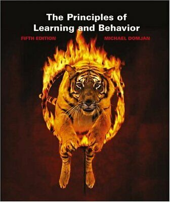 The Principles of Learning and Behavior by Michael Domjan Paperback Book The