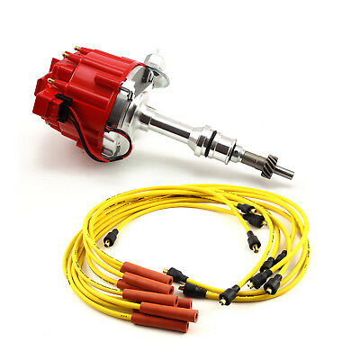 Ford 351W Windsor HEI Distributor Accel Spark Plug Wires Ignition Combo Kit