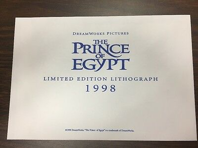 Dreamworks Pictures The Prince of Egypt limited edition lithograph 1998