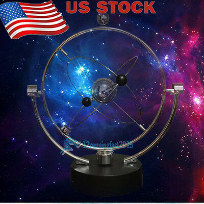 New Kinetic Orbital Revolving Gadget Perpetual Motion Desk Art Toy Office Decor