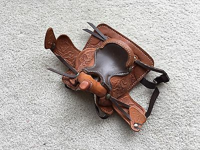 Breyer Horse Traditional Accessory Large Western Saddle Tack Leather Brown Tan