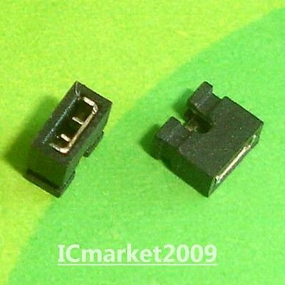 1000 PCS 2.0mm Standard Circuit Board Jumper Cap Shunts Short Circuit Cap