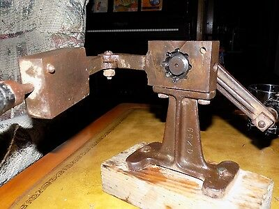 Antique Industrial Threaded Center Foundry Machine Gear Casting Mold Steampunk